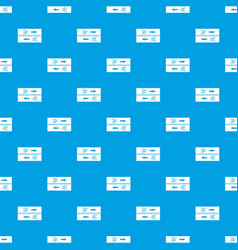 road for cyclists pattern seamless blue vector image vector image