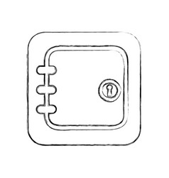 Safe money isolated icon vector