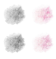 Set of Vintage Abstract Halftone Backgrounds vector image