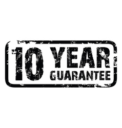 10 year guarantee vector image
