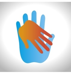 Helping hands concept icon vector