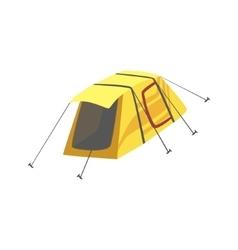 Small yellow bright color tarpaulin tent vector