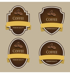 Set of dark labels Coffee theme vector image