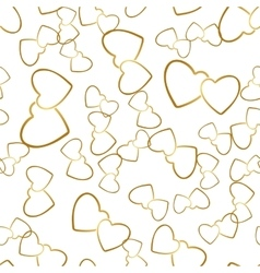 Two hearts seamless pattern romantic wrapping vector