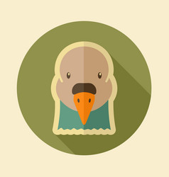 Dove flat icon animal head symbol vector