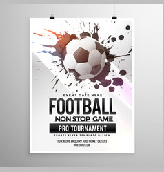 Football soccer game tournament flyer brochure vector