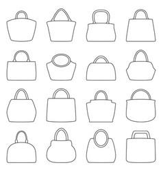 set of bag icons vector image