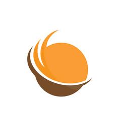 Planet globe sphere color logo image vector