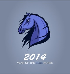 Year of the blue horse vector