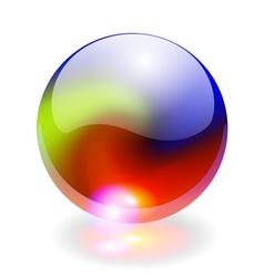 Rainbow sphere vector image
