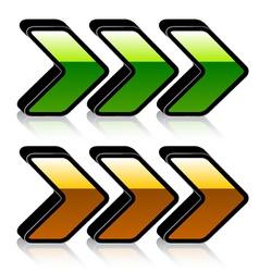 3d shiny arrows vector image vector image