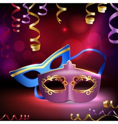 Carnival masks background vector