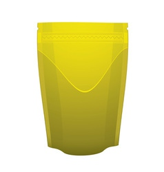 Gold metal foil sealed food pouch vector