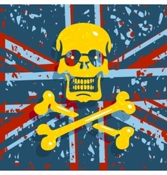 Jolly roger flag background vector