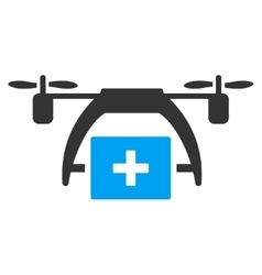 First aid drone icon vector