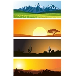 Landscape background vector