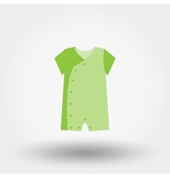 Infant bodysuit icon vector