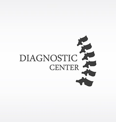Spine diagnostic center vector image