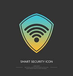 Smart protection connection the icon vector