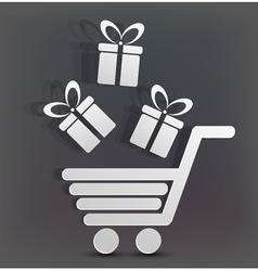 Gift shopping vector