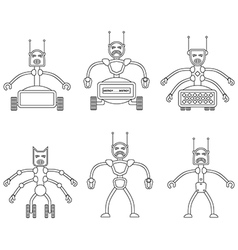 Set of angry robots vector image