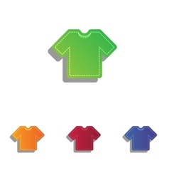 T-shirt sign  colorfull applique vector
