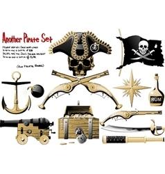 Big pirate set vector