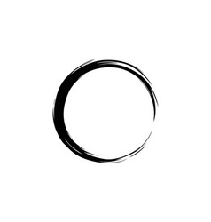 black watercolor hand drawing zen circle vector image vector image