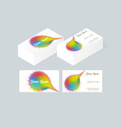 business card template 2 vector image vector image