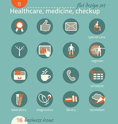 Business icon set Healthcare medicine diagnostics vector image