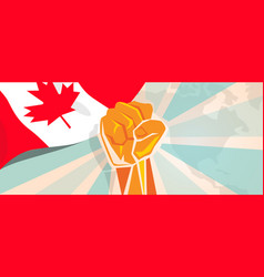canada fight and protest independence struggle vector image vector image