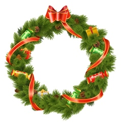 Christmas Wreath with Candy vector image vector image