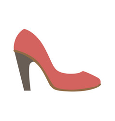 classy red stiletto shoe isolated footwear flat vector image vector image