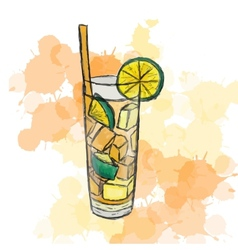 Cocktail long island ice tea vector
