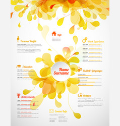 Creative color rich cv resume template vector