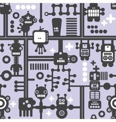 Creative simple background with small robots vector image