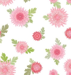 cute seamless texture with pink chrysanthemum for vector image