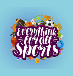 Everything for all sports banner fitness sport vector
