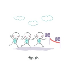 finish vector image vector image