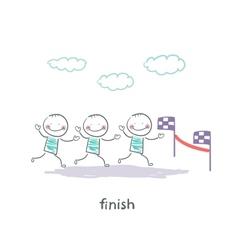 finish vector image