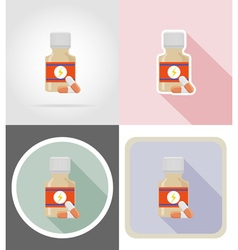 Fitness flat icons 15 vector