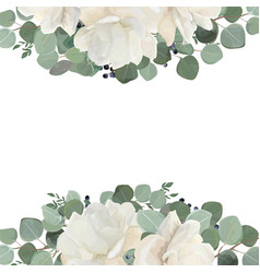 floral card design with garden white creamy vector image vector image