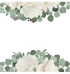 floral card design with garden white creamy vector image