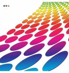 halftone retro dots 3d vector image
