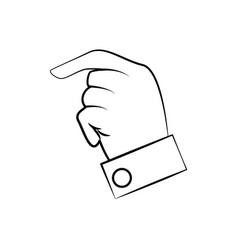 hand man finger line vector image