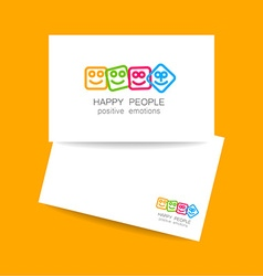 happy people positive emotions vector image vector image
