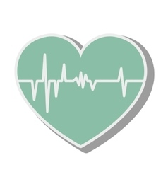 heart cardiology medical vector image