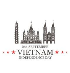 Independence Day Vietnam vector image