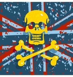 Jolly roger flag background vector