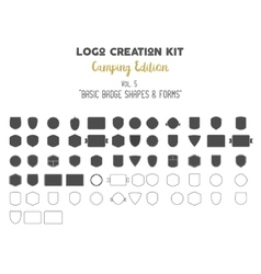 Logo creation kit bundle Camping Edition set vector image vector image